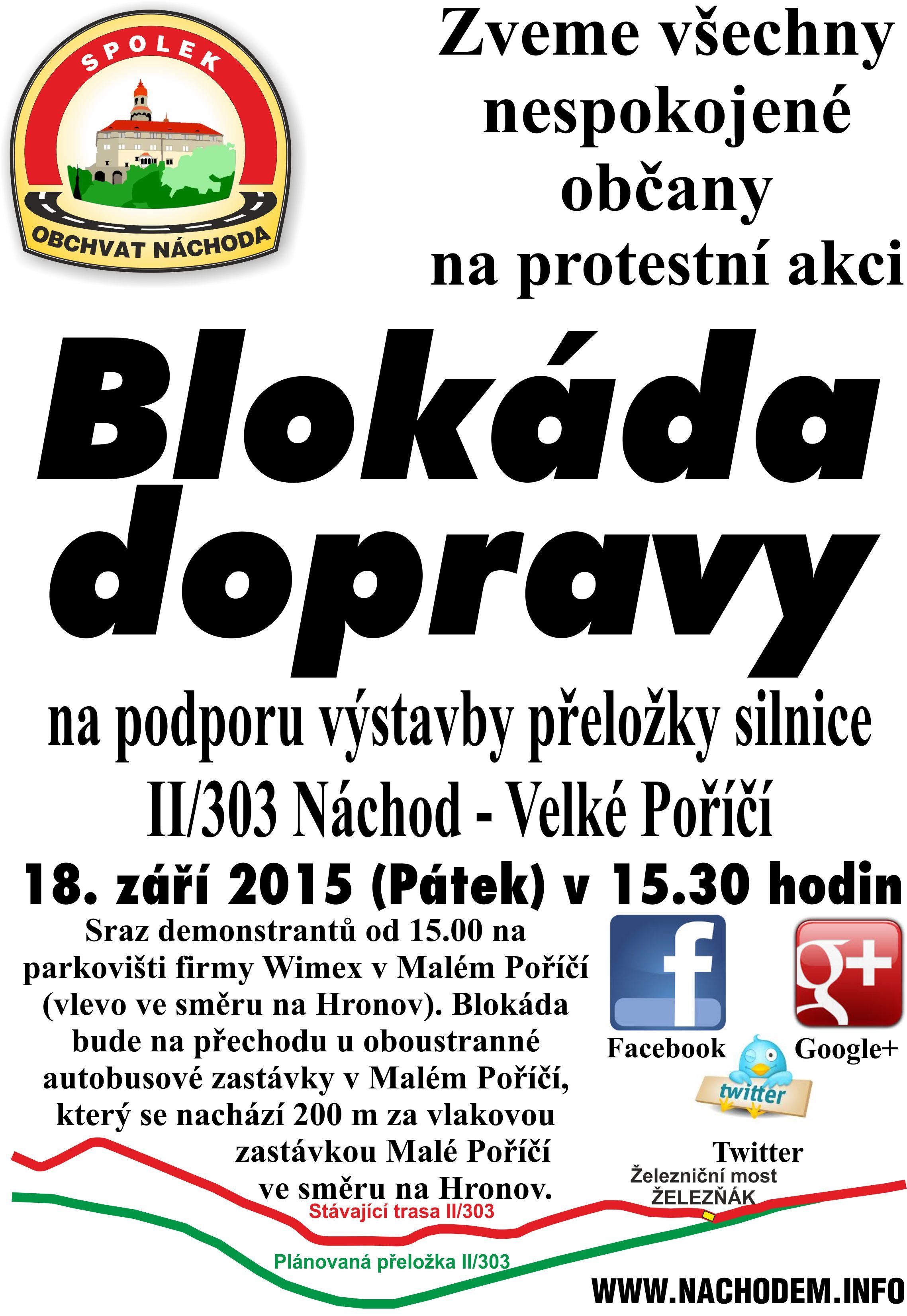 Pozvánka na blokádu 18. 9. 2015
